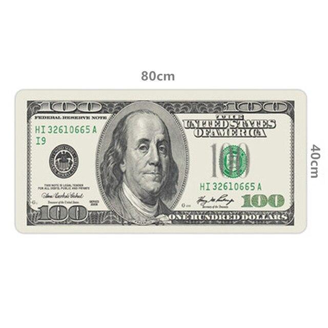 80*40 سنتيمتر XL لوحة ماوس كبيرة الأمريكية الولايات المتحدة الأمريكية الدولار العلم البريطاني لعبة الألعاب ماوس الوسادة ألعاب الكمبيوتر المحمول حصيرة ل macbook