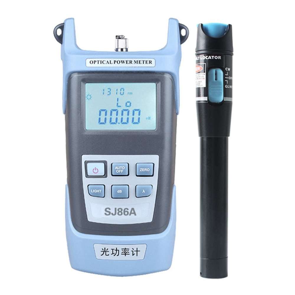 2 In 1 Fiber Optical Power Meter Set Cable 5Km Test Instrument Visual Fault Locator Pen With Proofread Function 7 Wavelengths
