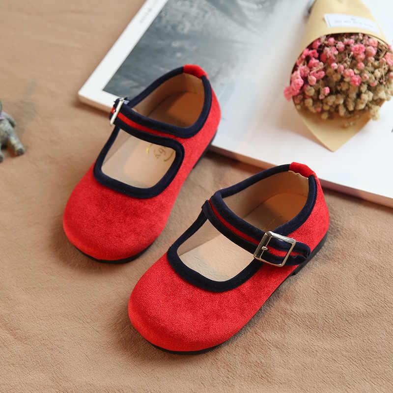 ฤดูใบไม้ผลิใหม่รองเท้าเด็กทารกรองเท้าเด็กรองเท้าเด็กวัยหัดเดินรองเท้าแบรนด์รองเท้านุ่ม Red Party Mary Jane หวาน 2019