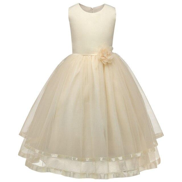 Marka Dziewczyna Ubrania Flower Girl Sukienka Na Wesele Dzieci Prom