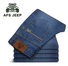 АФН JEEP Классический Дизайн Плюс Размер размер 42/40/38/44 Хлопка Джинсы Синий Цвет Хорошее Качество джинсовые Брюки 2014 Новый
