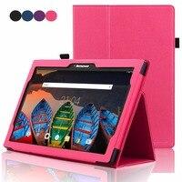 Funda para Tablet lenovo-x70f  con tapa y soporte  para Lenovo Tab 2 10 1 A10-30 A10-70 X30F X70F  funda de piel sintética para Lenovo Tab 3 10 plus  TAB-X103F