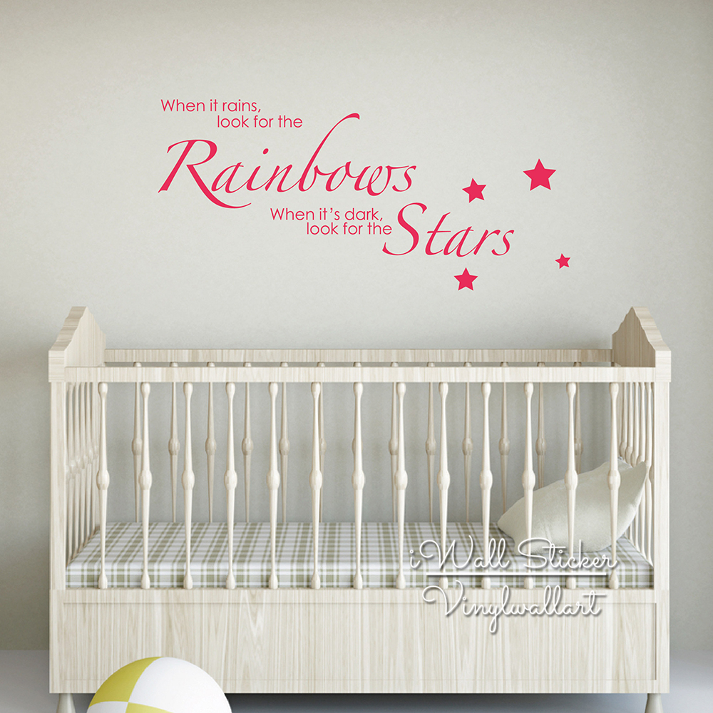 Baby nursery quote wall sticker children room quote wall decals baby nursery quote wall sticker children room quote wall decals inspirational wall quotes easy wall art cut vinyl stickers q154 in wall stickers from home amipublicfo Image collections
