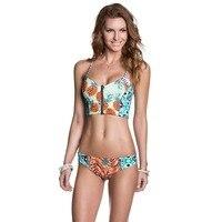 2017 Female Sexy Pineapple Swimsuit Zipper Corset Biquini Thong Swim Wear Bathing Suit Swimwear Women Brazilian