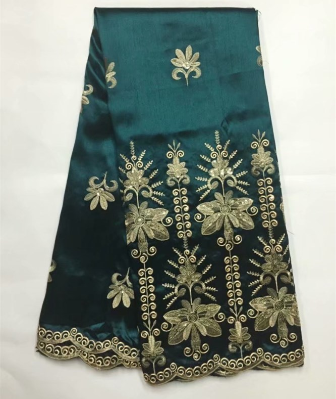 African Lace Fabric 2018 High Quality green african george material with Sequins Factory Price African George Wrapper b6 3