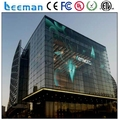 Leeman transparent oled screen led moving message display sign outdoor glass window high