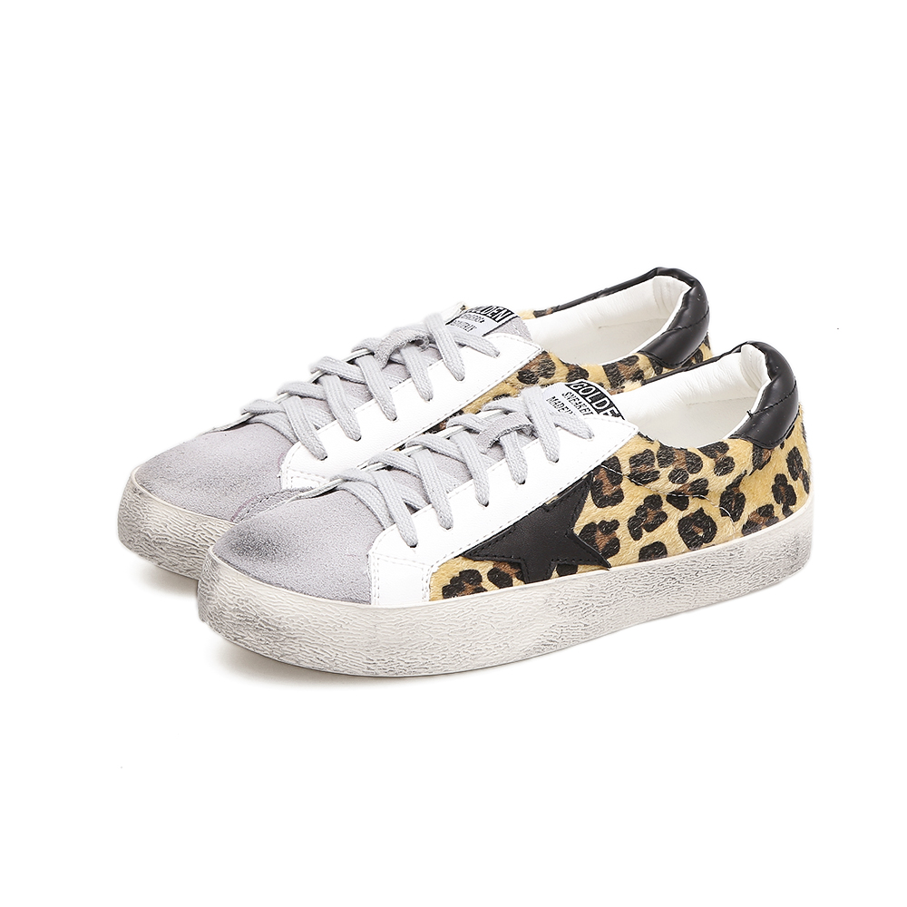BLOOMNEXT Brand 2018 Women Casual Shoes High Quality Slipony Girl Leopard Retro Golden White Flat Shoes Autumn Female Shoes fashion tassels ornament leopard pattern flat shoes loafers shoes black leopard pair size 38