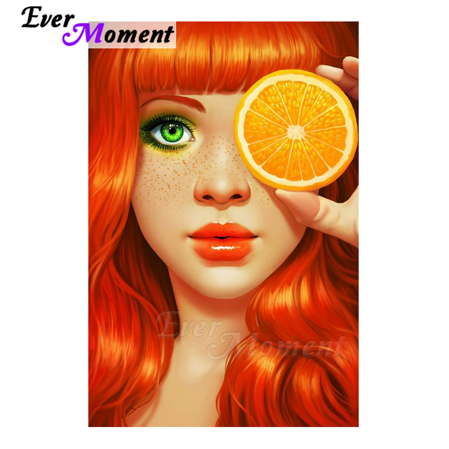 Ever Moment Diamond Painting Cross Stitch Handmade Full Square Drill Picture Of Stone Diamond Embroidery Woman Lemon S2F1743Ever Moment Diamond Painting Cross Stitch Handmade Full Square Drill Picture Of Stone Diamond Embroidery Woman Lemon S2F1743