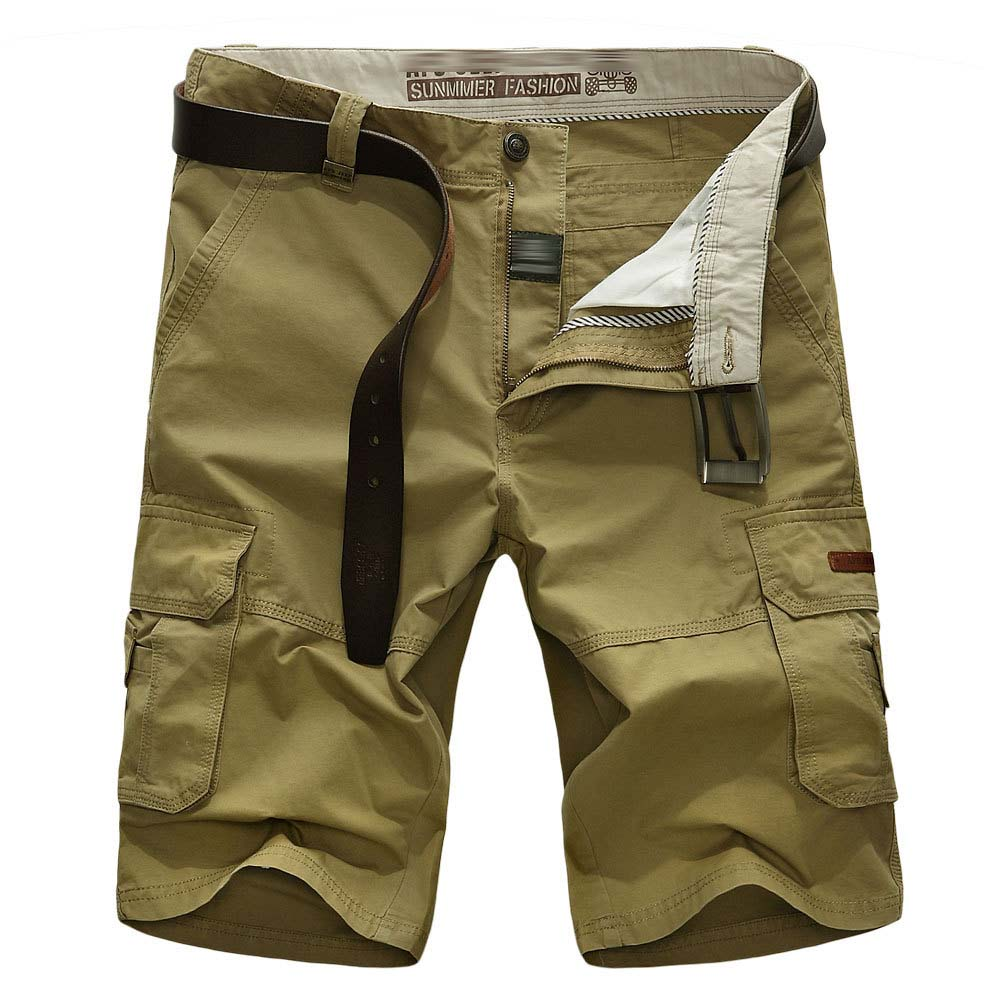 Orderly New Brand Men Cargo Shorts With Pockets Cotton Straight Short Casual Beach Short Big Size 30-44