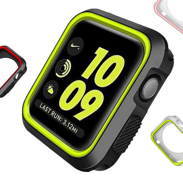 hot sales 97c60 63baa US $2.5 20% OFF|Watch accessories Protector case for Apple Watch Series 2 1  Soft Screen Protector All around Cover for iWatch NIKE band-in Watchbands  ...