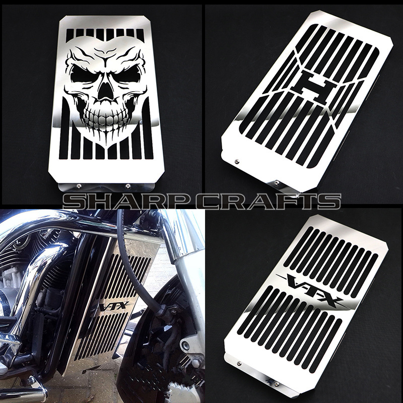 Motorcycle Accessories & Parts Genteel Top Quality Motorcycle Chrome Skull Radiator Grill Cover Guard Protector For Honda Vtx1800 Vtx 1800 C F N R S T 2002-2008 2007 Automobiles & Motorcycles