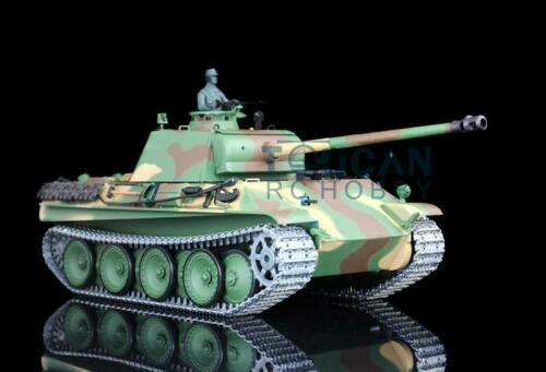 Henglong 1/16 Scale 6.0 Upgraded German Panther G RTR RC Tank 3879 Metal Tracks