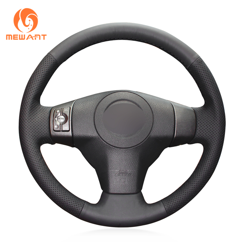 MEWANT Black Artificial Leather Car Steering Wheel Cover for Toyota RAV4 2006-2012 Vios 2008-2013 Yaris 2007-2011 Scion XB 2008 цены