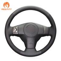 MEWANT Black Artificial Leather Car Steering Wheel Cover for Toyota RAV4 2006 2012 Vios 2008 2013 Yaris 2007 2011 Scion XB 2008