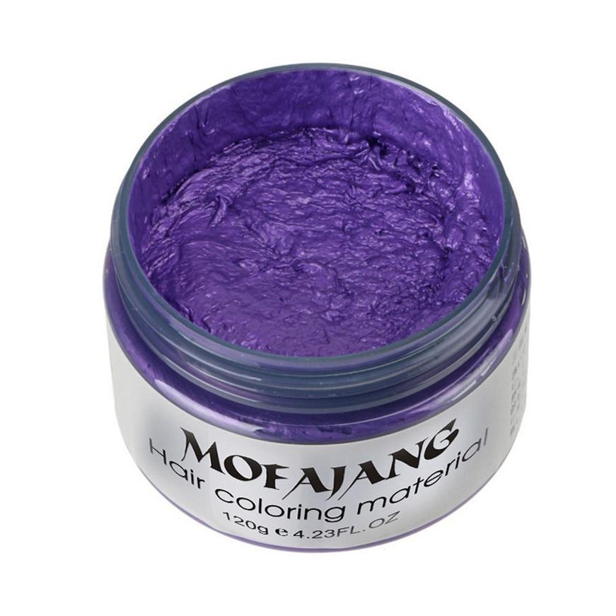 2017 DIY Hair Clay Wax Mud Dye Cream Grandma Hair Ash Dye Temporary 7 Colors hair color