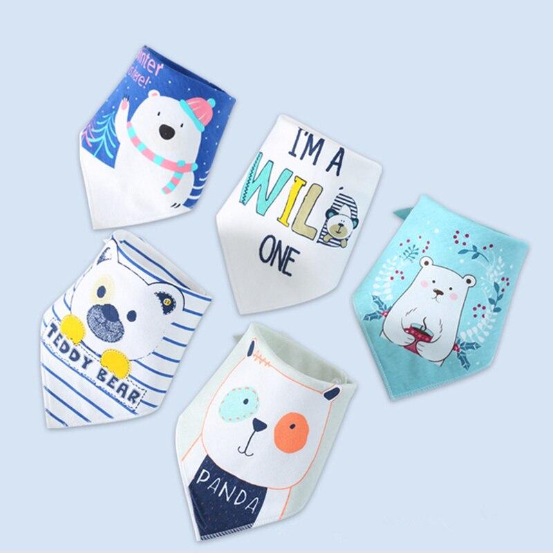 eTya Bibs for Boy Girl Bandana Bib Burp Cloth Print Cotton