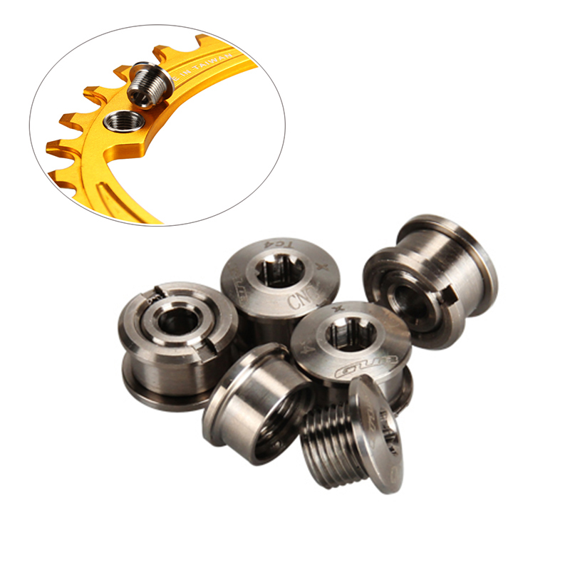 5pcs Aluminum Alloy Chainring Bolts Screws 6.5mm Screws Chainwheel Bolts 2019