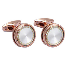 2017 New VAGULA High end Cufflinks french shirt Cuff links Plated rose gold links gift gemelos drop ship 51915