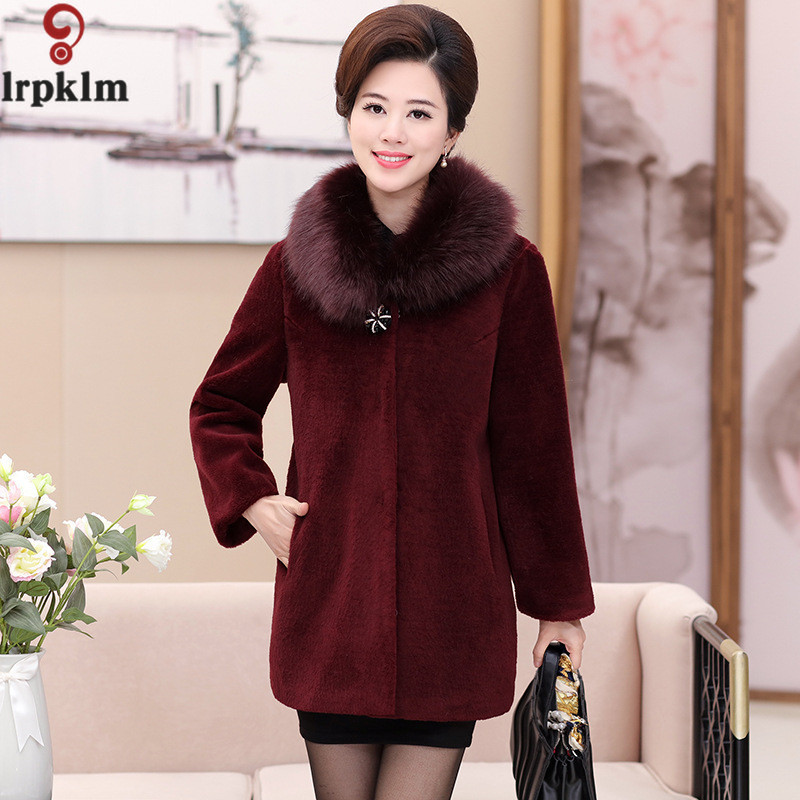 La Faux Taille Red Gris Manteaux Vin Plus Long Manteau Noir Xl Synthétique Rouge Couleur 4xl Wine Outwear Fourrure De Veste Lz277 Femmes black fxZqwfar