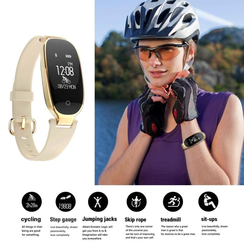 Woman S3 Smart Watch Phone Wristband Fitness Tracker Sport Heart Rate Sleep Monitor Call / SMS reminder camera Wristwatch professional heart rate sleep track smart wristband watch with colorful ui 831
