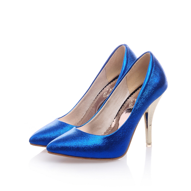 Blue And Silver Heels | Fs Heel