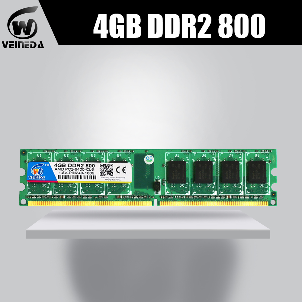 Ddr2 4 gb ddr2 800 MHZ pour intel et amd mobo support de bureau memoria 8 gb ram ddr2 PC2-6400 240pin non-ecc DIMM