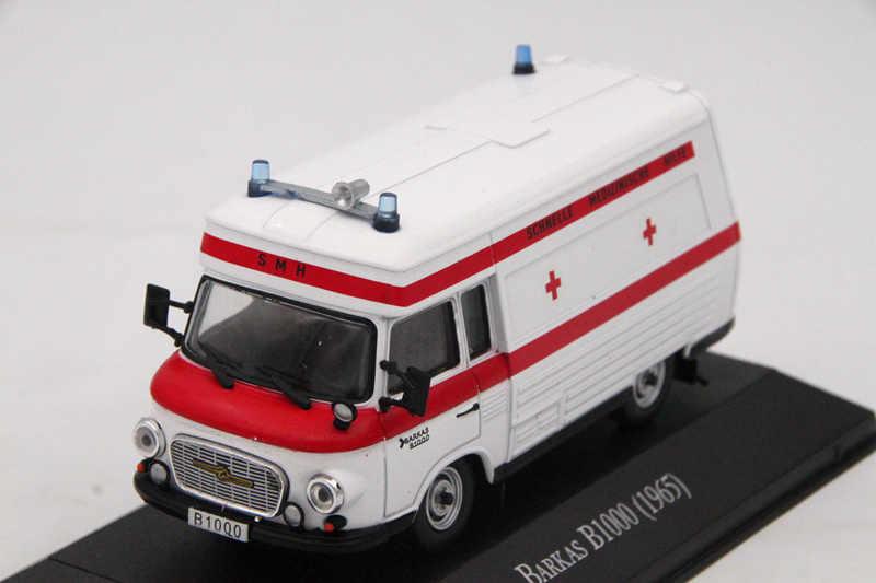 Atlas 1:43 скорая помощь баркас B1000 1965 скорая помощь литье под давлением модели серии игрушки автомобиль коллекция авто