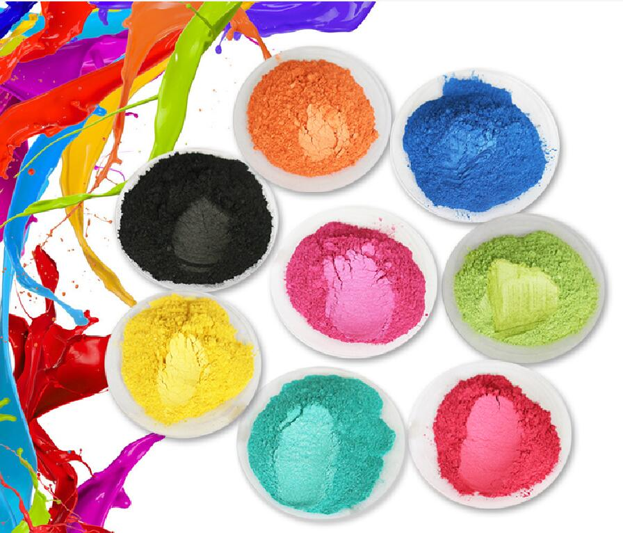 Colorant Pearl Powder Pigment for Eye shadow Nail Polish Mica Glitter Pearlescent Powder Cosmetic Flash Dust Dye Soap Pigment 8 color soap powder 50g pack healthy natural mineral mica powder diy for soap dye soap colorant makeup eyeshadow skin care