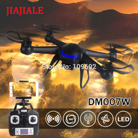 JIAJIALE UAV DM007W RC Quadrocopters HD 2MP Camera 2.4G 4CH 6 Axis Aircraft WIFI FPV Real Time Video Helicopters RTF Drones