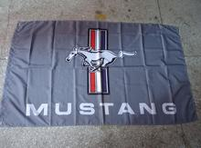 mustang grey racing flag, 90X150CM polyester banner