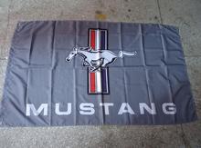 mustang grey racing flag, 90X150CM polyester banner