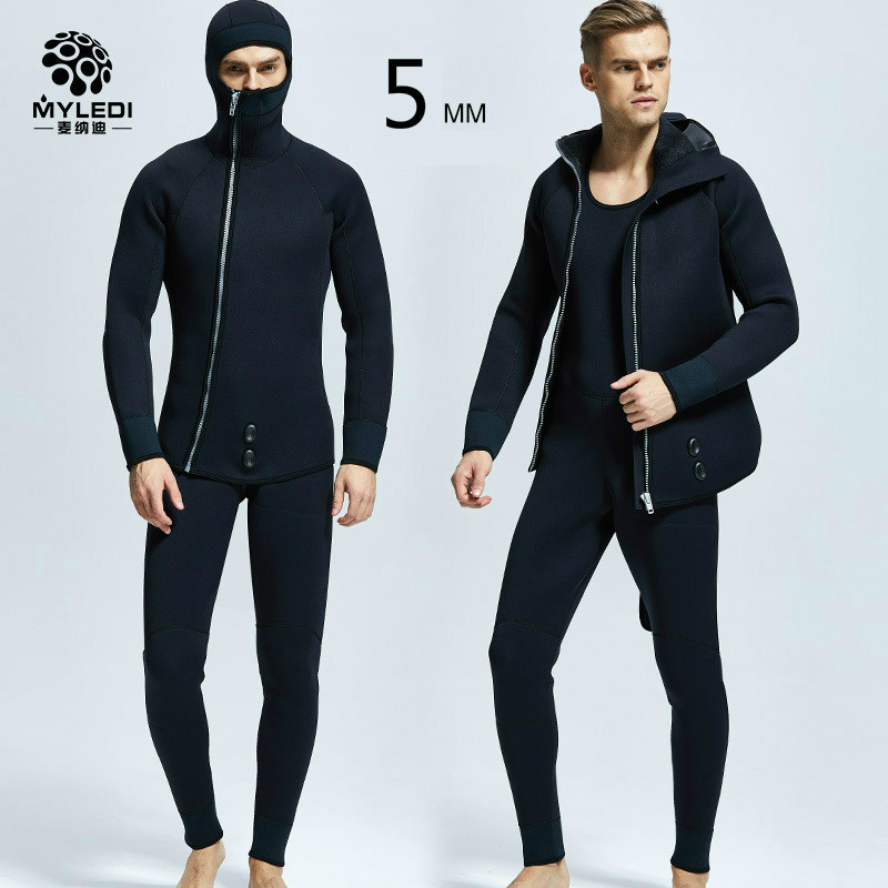 New 5MM two pieces of submersible submersible diving suitNew 5MM two pieces of submersible submersible diving suit