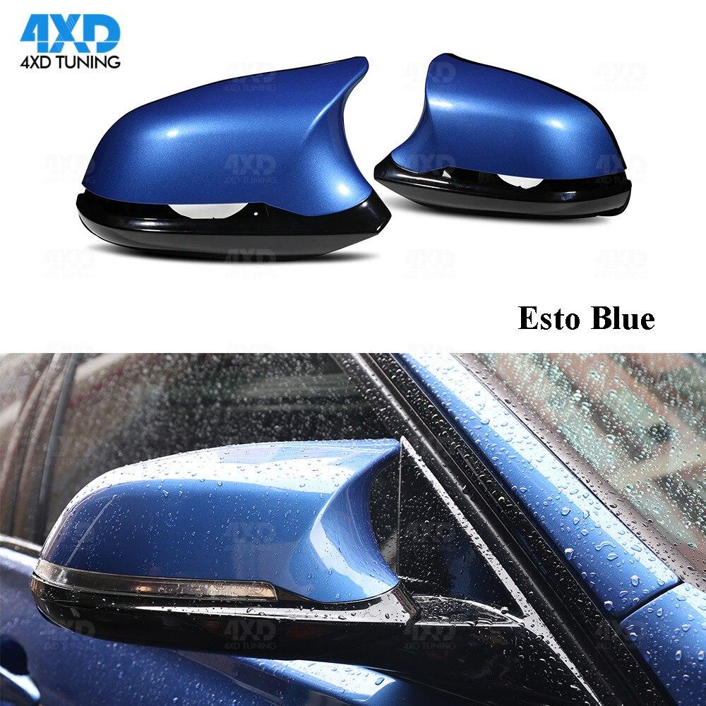 F22 F30 Carbon Look Mirror Cover For BMW F20 X1 E84 M2 F87 F32 F33 F36 F34 M235i Rear View Mirror Cover M3 M4 Look glossy black