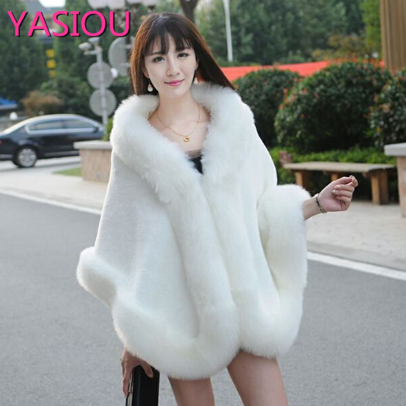Fur Wedding Bridal Prom Bolero Cape Stole Shawl Shrug Wedding Wraps Mantella Sposa Ladies Evening Party White Fur Coat Wedding