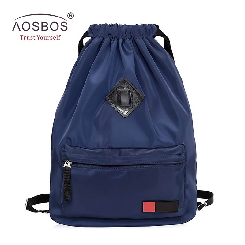 e8477603969b US $14.99 45% OFF|Aosbos Women Waterproof Nylon Drawstring Backpacks Female  Casual Lightweight Folding Solid Travel Backpack Bag for Girls Ladies-in ...