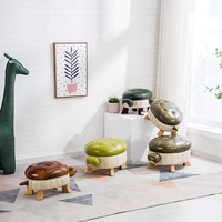 2019 Top Fashion Special Offer Modern No Kruk Pufe Turtle Solid Wooden Footstool For Creative Bench Shoe Chair