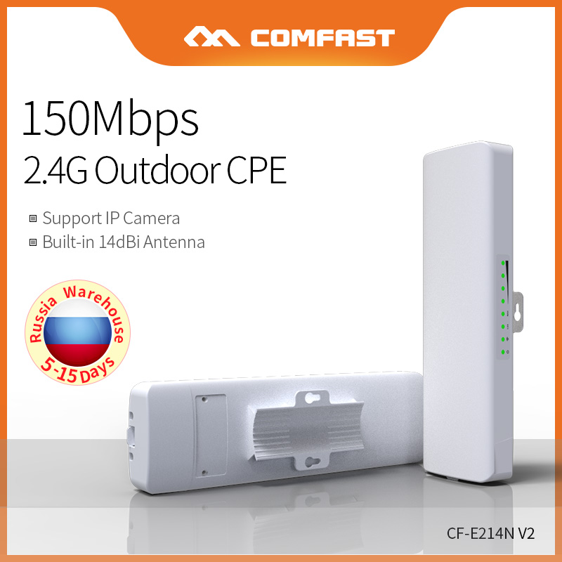 COMFAST 1-3KM 2.4GHz Outdoor CPE Wireless WiFi Repeater 150Mbps Extender Router AP Access Point Signal Booster CF-E214N