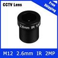 2 Megapixel M12 Fixa 1/4 inch 120 Lente Grande angular de 2.6mm Para OV9712 720 P câmera IP e câmera de Segurança Em Casa HD Câmera de CCTV Livre grátis
