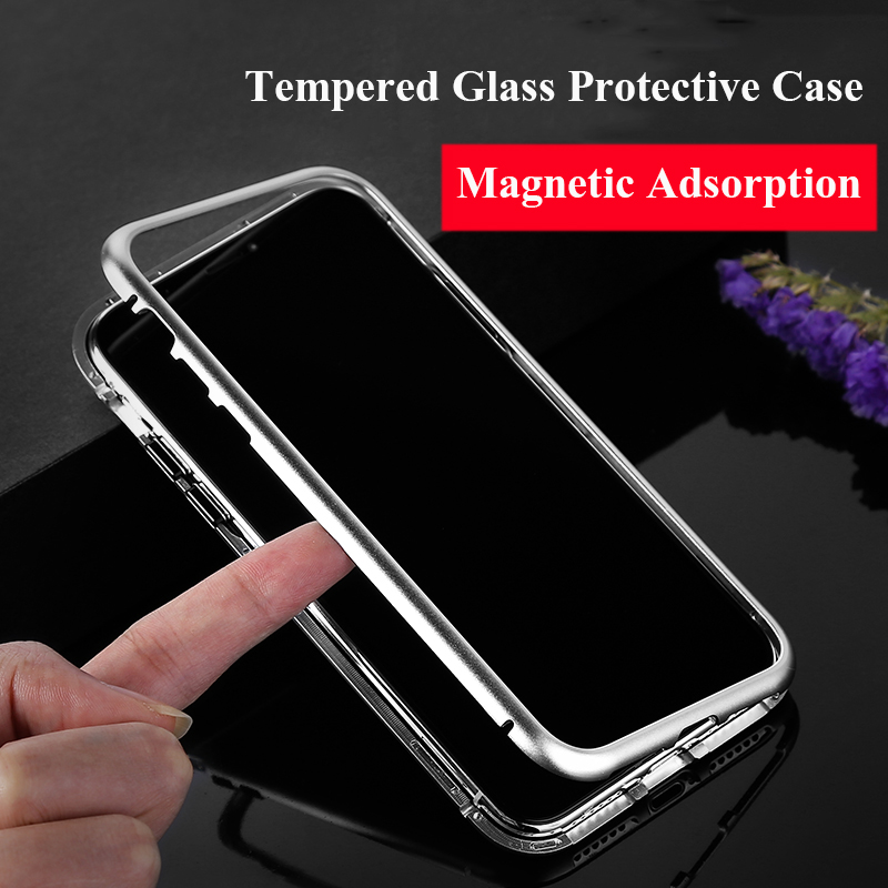 Magneto-Upgrade-Magnetic-Adsorption-case-for-iphone-X-iphone-7-8-plus-case-Dual-color-luxury (2)