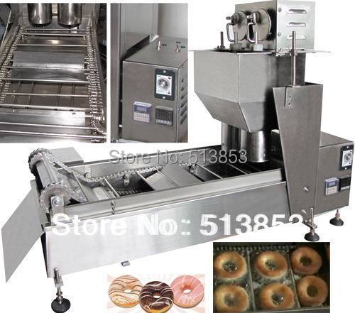 High quality Electric Automatic donut fryer/donut machine( GB-10D2) automatic donut machine productions line automatic commercial donut machine donut forming machines