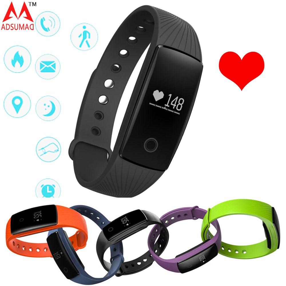 Smart Bracelet V05C Bluetooth 4 0 Fitness Tracker Heart Rate Monitor Alarm Clock Smart Wristband Passometer