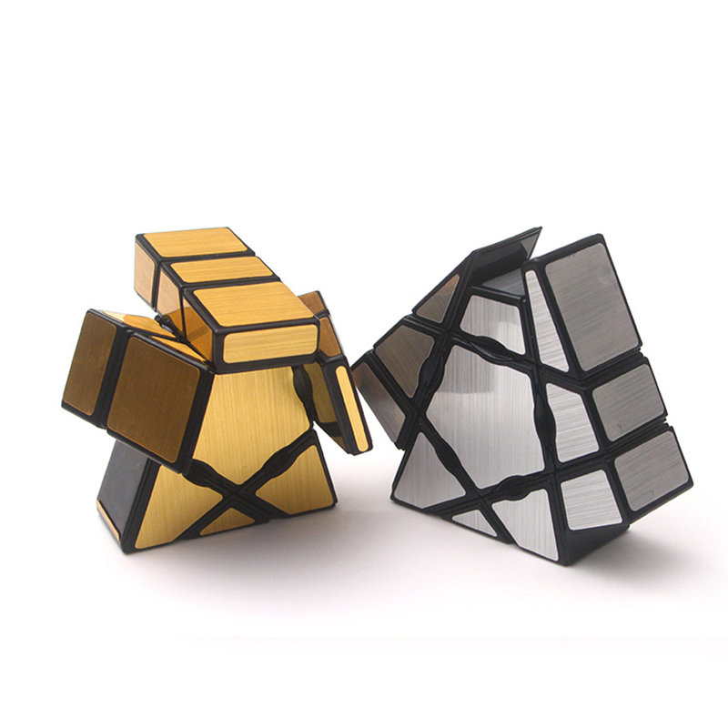 Magic Cubes Supply 1x3x3 Mirror Puzzle Cube Toy Adult Decompression Anti-pressure Artifact Toys Compact And Portable Mirror Blocks Silver Shiny Easy And Simple To Handle