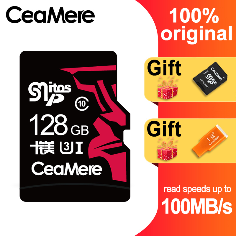 CeaMere MICRO SD256GB 128GB 64GB U3 UHS 3 Micro sd card Class10 UHS 1 flash card Memory Card Microsd TF/SD Cards for Tablet-in Memory Cards from Computer & Office