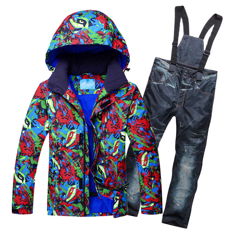 Для мужчин лыжный костюм ветрозащитная Водонепроницаемый уличная спортивная  одежда Лыжный спорт Сноуборд супер теплый женский пиджак 415dedf56e8
