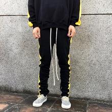 5ae6421c60 Nueva moda de otoño Pantalones Fitness casuales de los hombres pantalones  de moda de cremallera hip