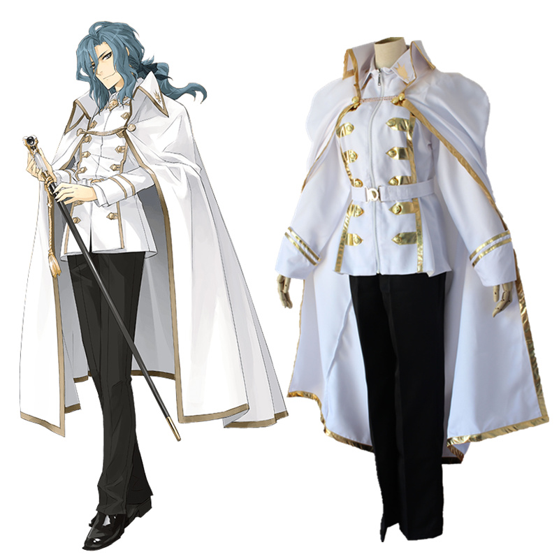 Fate/Apocrypha Caules Forvedge Darnic Prestone Yggdmillennia Cosplay Costume Full Set Uniform ( Jacket + Pants + Cloak )