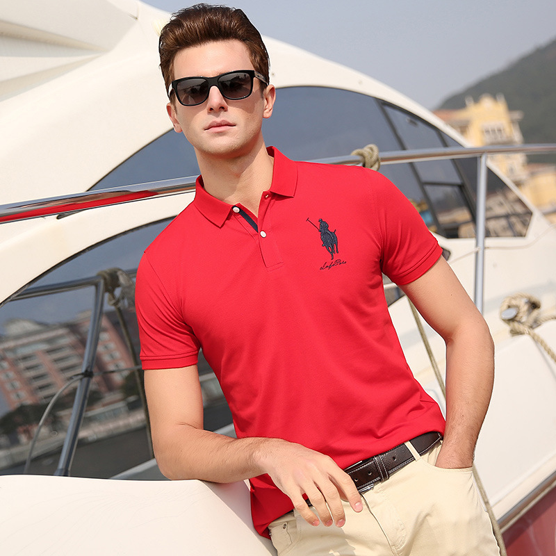 2019   Polo   men shirts cotton business casual summer new short sleeve brand clothing fashion vogue plus size XXXL tops & tees A1