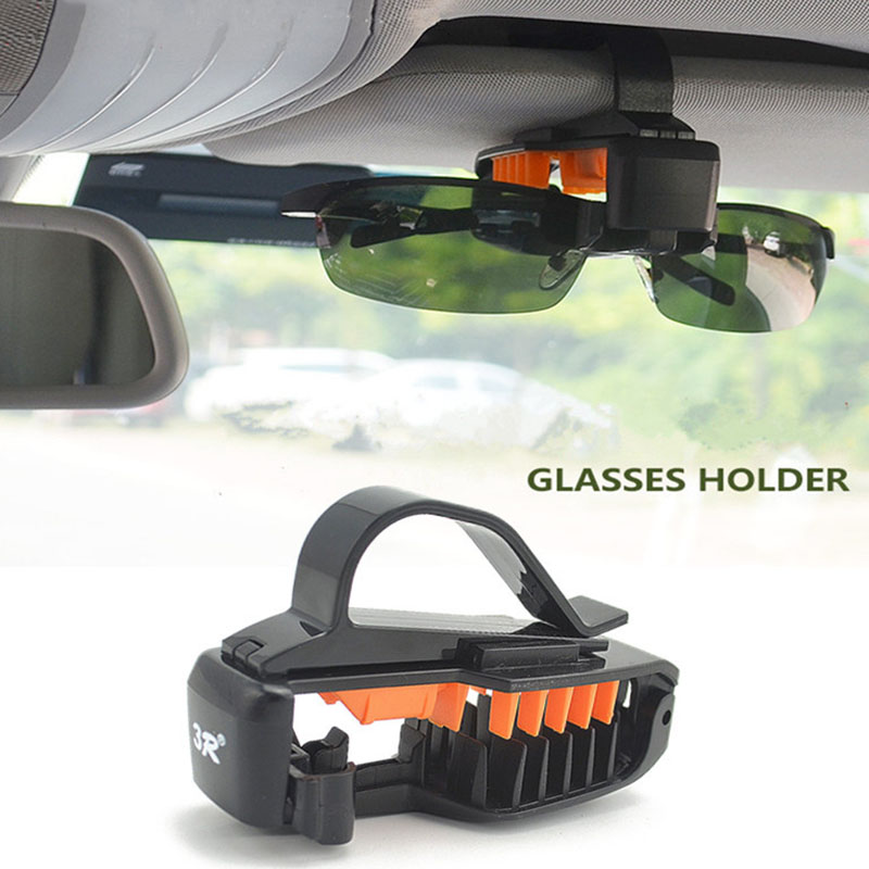 2018 NEW Car Styling Sunglasses Eyeglasses Glasses Holder Case Auto Sunvisor Accesories Vehicle Ticket Clip hypersonic ticket spring clip for vehicle