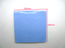 FreeShipping 1pcs 100*100mm 6W Thermal Pads Silicone Cooling For GPU CPU IC  Industry  etc Repairing Mobile Laptop Computer