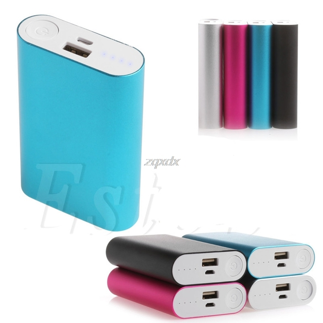 5V 2.0A Aluminum Power Bank Case Kit 3X 18650 Battery Charger Case Box for Cell Phone Z17 Drop ship